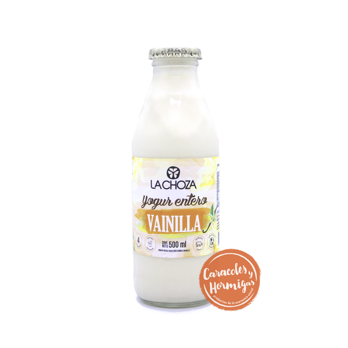 "Yogur entero Bebible de Vainilla ""La Choza"" botella retornable 500cc"